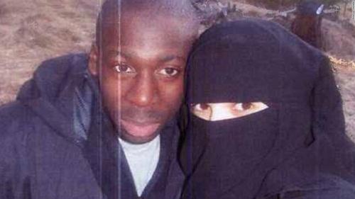 Boumeddiene và Amedy Coulibaly. (Ảnh: