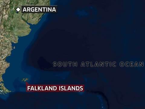 Tàu cá Hsiang Fu Chun mất tích khi đang di chuyển cách quần đảo Falkland khoảng 3.148 km (Đồ họa: