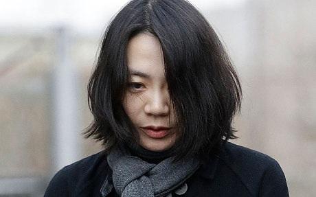 Cô Heather Cho, con gái Chủ tịchKoreanAir(Ảnh: Telegraph)