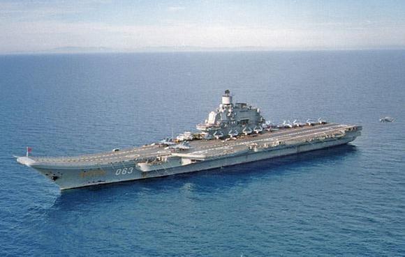 Tàu sân bay Đô đốc Kuznetsov (Ảnh:
