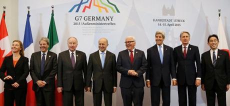 Ngoại trưởng các nước G7 và đại diện của Liên minh châu Âu (Ảnh: