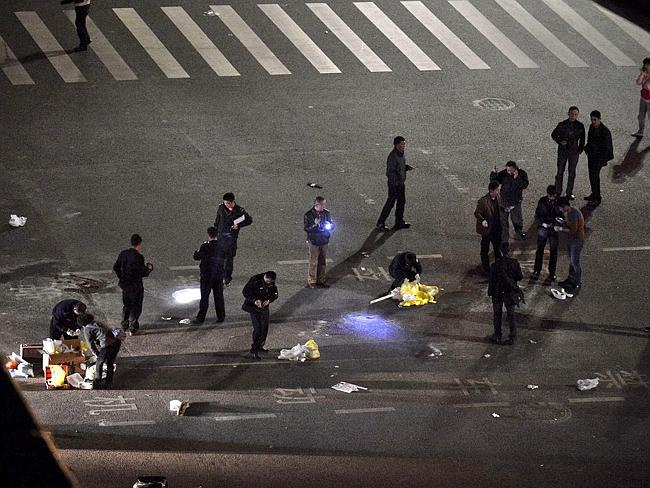 Hiện trường vụ tấn công tại nhà ga Côn Minh hồi tháng 3/2014 (Ảnh:
