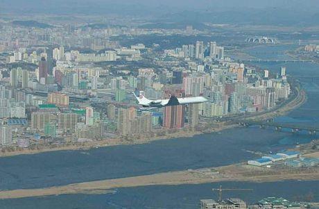 Ông Kim Jong-un đã đi chuyên cơ để thị sát một dự án xây dựng tại Bình Nhưỡng mới đây.