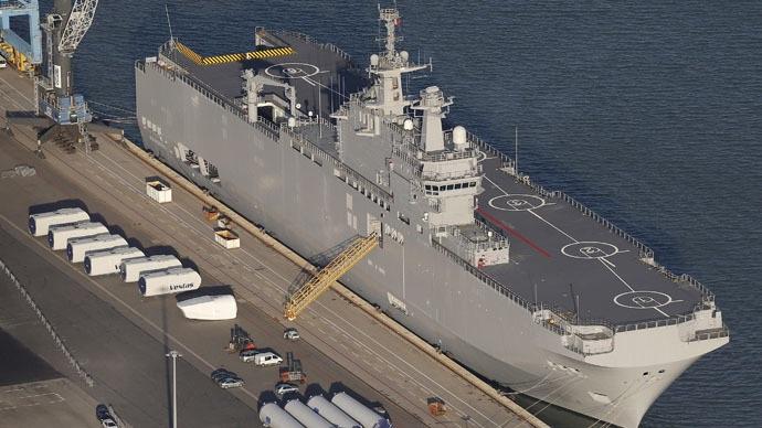 Tàu lớp Mistral mang tên Vladivostok. (Ảnh: