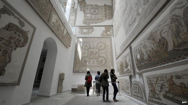 Bảo tàng Bardo, một trong những địa điểm thu hút đông du khách ở thủ đô Tunis