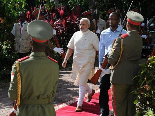 Thủ tướng Ấn Độ Modi thăm Seychelles hôm 14/3. (Ảnh: