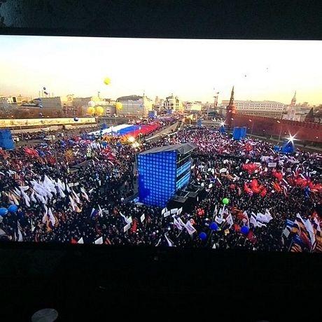 Quang cảnh buổi mít tinh và hòa nhạc kỷ niệm 1 năm ngày Crimea sáp nhập tại Mátxcơva ngày 18/3