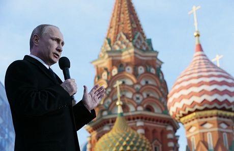 Tổng thống Nga Putin phát biểu tại buổi mít tinh