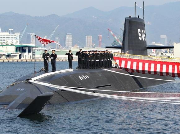 Tàu ngầm lớp Soryu của Nhật (Ảnh minh họa: