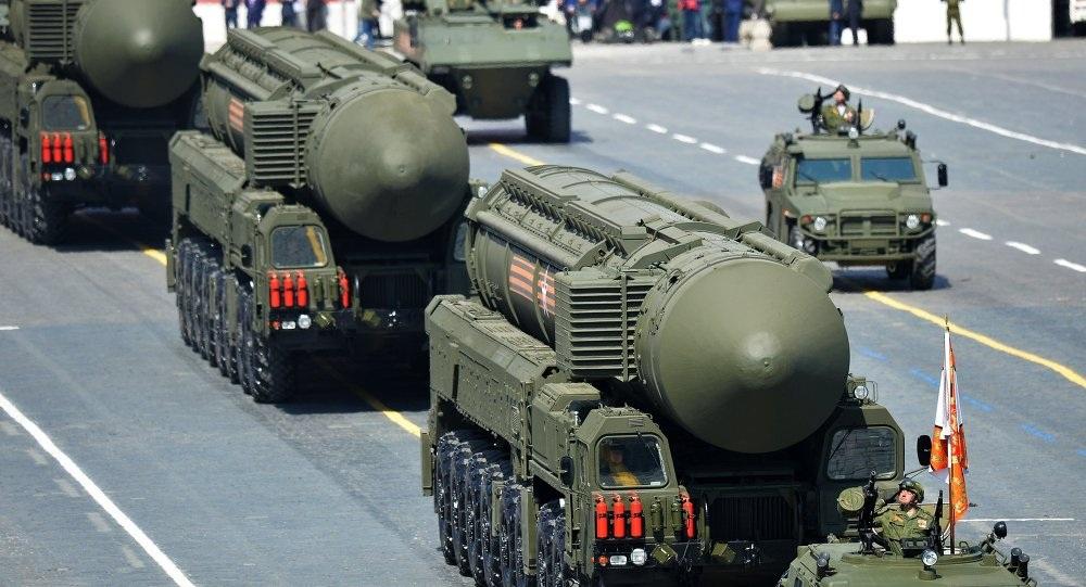 Tên lửa mang đầu đạt hạt nhân của Nga (Ảnh: