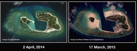 Đảo Quang Hòa đã thay đổi đáng kể chỉ trong 1 năm qua.