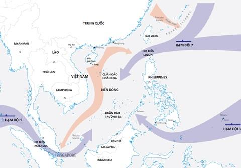 Ba hướng triển khai của Hải quân Mỹ đối phó Trung Quốc trên Biển Đông