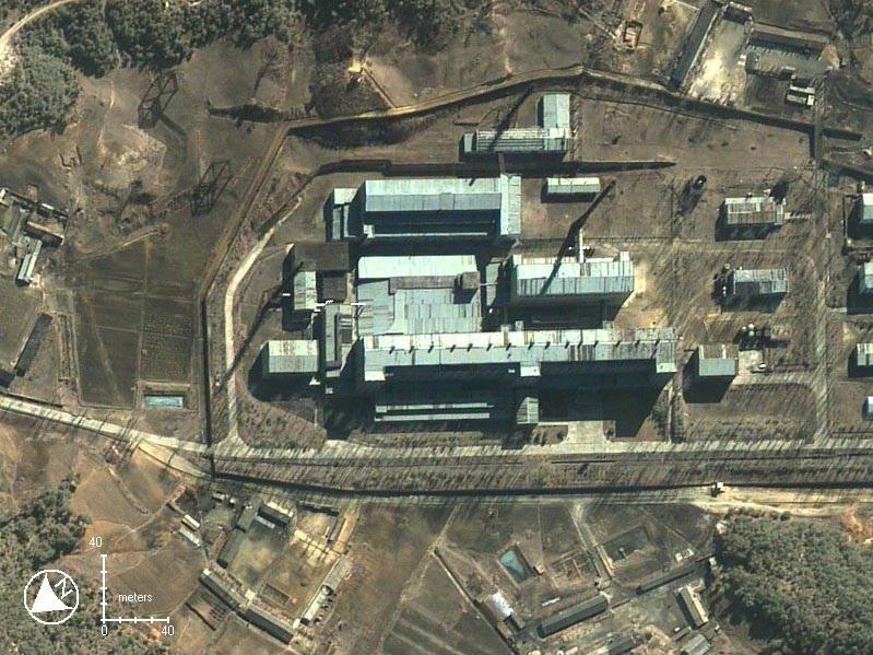 Cơ sở hạt nhân Yongbyon chụp từ vệ tinh.