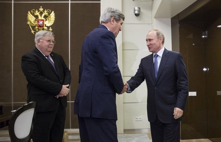 Tổng thống Putin tiếp Ngoại trưởng Kerry (Ảnh: