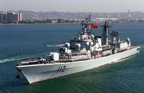 Tàu khu trục của Hải quân Trung Quốc (Ảnh:
