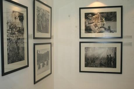 Các bức ảnh của AP được trưng bày tại triển lãm.