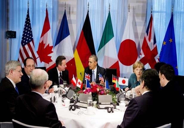 Các lãnh đạo G7 nhóm họp tại Bỉ năm 2014 (Ảnh: