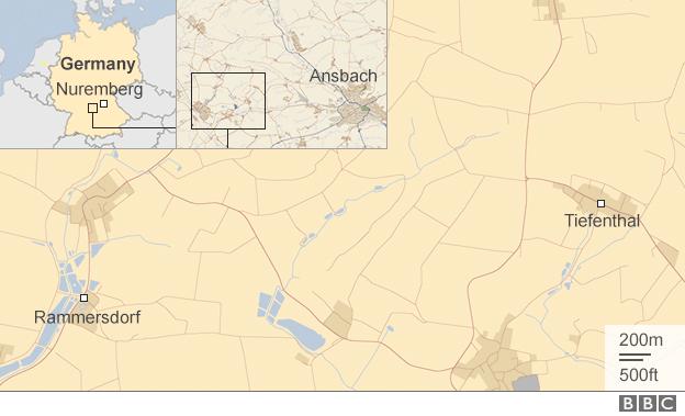 Vụ nổ súng xảy ra tại bang Bavaria ở miền nam nước Đức (Đồ họa: