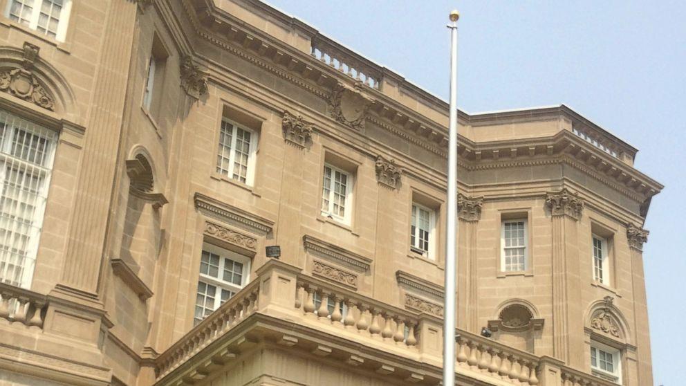 Quốc kỳ Cuba sẽ được kéo lên khi đại sứ quán Cuba được mở lại ở Washington ngày 20/7 (Ảnh: ABC)