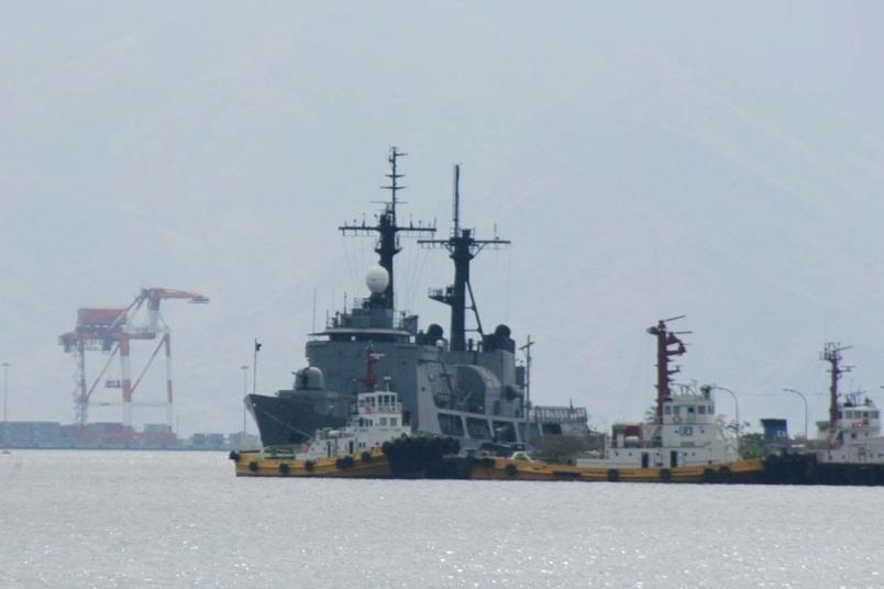 Một tàu chiến Mỹ neo đậu tại Vịnh Subic tháng 3/2015 (Ảnh: Stripes)