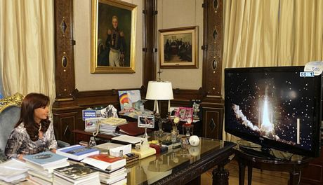 Văn phòng Tổng thống Iran rất nhỏ gọn. Trên bàn chỉ có máy tính cá nhân và sổ ghi chép.