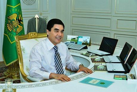Văn phòng làm việc củaTổng thống Turkmenistan.