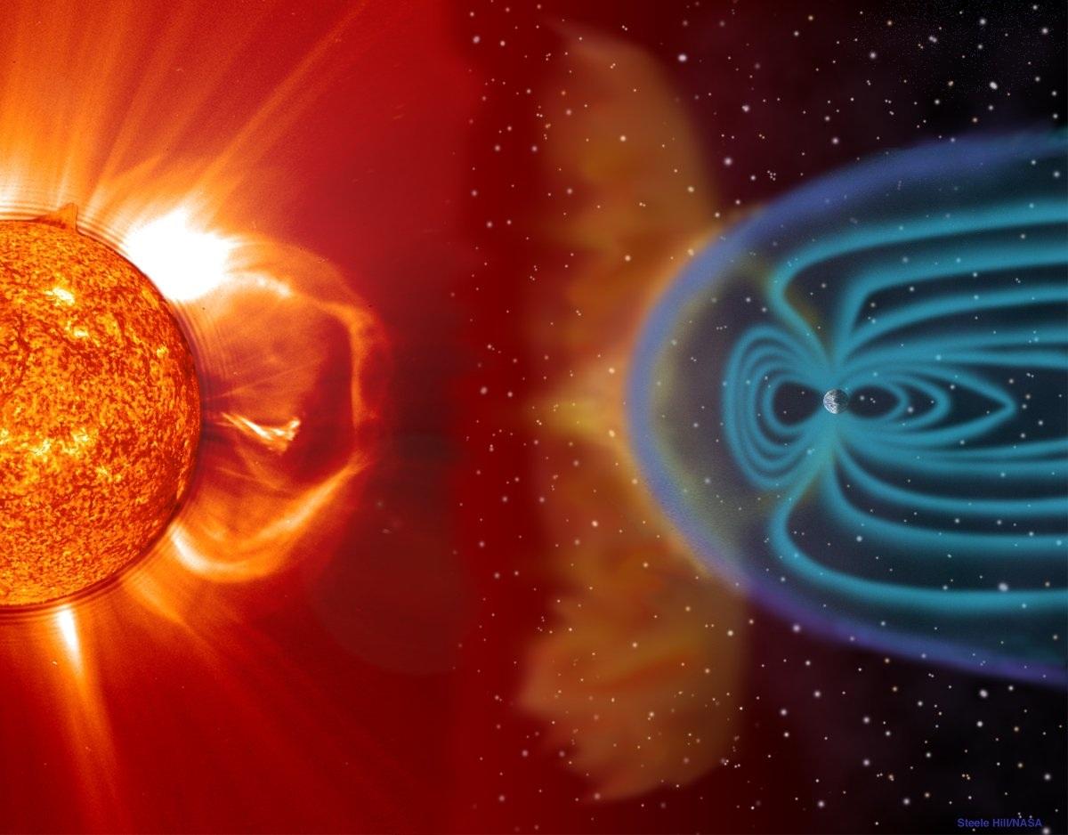 Các từ trường được tạo ra bởi chuyển động quay tròn của Trái Đất, dần tạo nên những lớp sắt và nickel lỏng xung quanh một trục, hình thành một cấu trúc như nhà máy phát điện từ trường