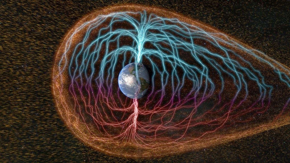 Lớp từ trường này làm lệch đi quỹ đạo của các hạt năng lượng bắt nguồn từ mặt trời, đồng thời thay đổi kích thước và hình dạng của nó khi tiếp xúc