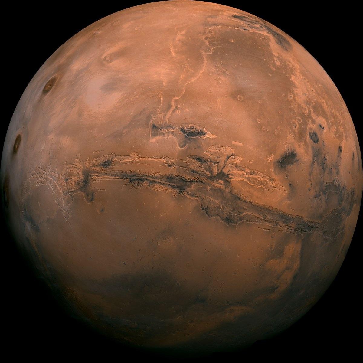 Ảnh chụp trên Sao Hỏa từ vệ tinh.