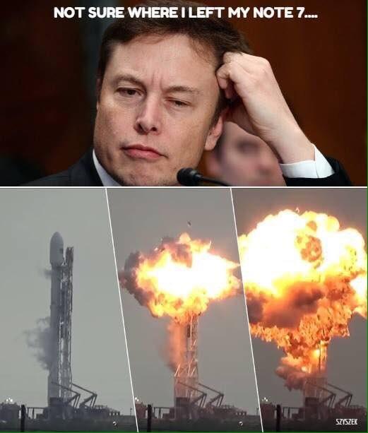 Tàu vũ trụ của Elon Musk phát nổ là do ông ... để quên chiếc Note7 của mình trên tàu