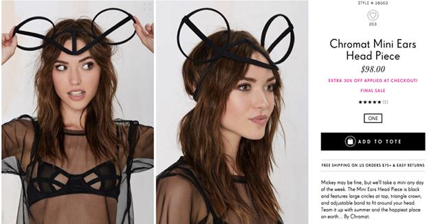 Một chiếc vòng đeo đầu khá đơn giản, và hoàn toàn không có gì đặc biệt - được rao bán với giá 68 USD (giảm 30% so với giá gốc 98 USD)