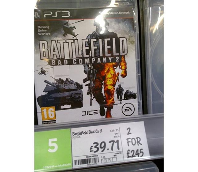 Đĩa game PS3 cũng có khuyến mại giá ngược đời