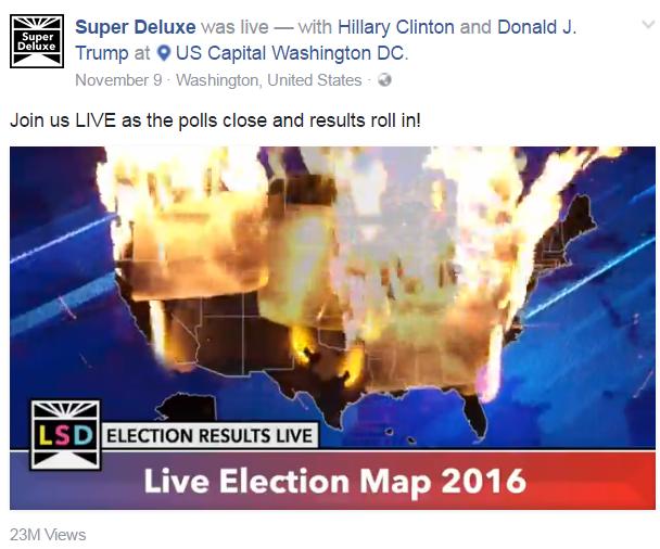 Một video khác mô tả sức nóng của cuộc tranh cử tổng thống tại tất cả các bang của Mỹ, thu hút hơn 23 triệu lượt xem
