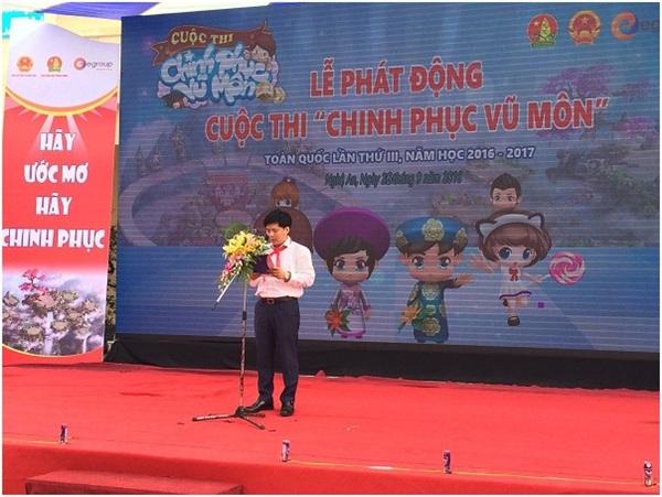Ông Nguyễn Ngọc Thủy– Chủ tịch Hội đồng Quản trị, Tổng giám đốc Tập đoàn Egroup phát biểu trong buổi lễ.