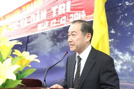 Các đại diện tổ chức Shinnyo - en Nhật Bản vui mừng đến dự kễ khánh thành cầu