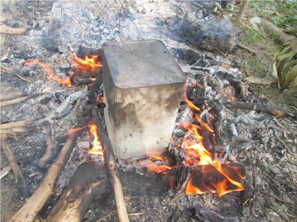 Để lửa vừa phải, chuột sẽ không bị khét