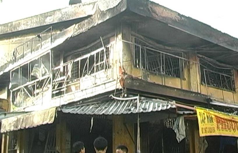 Hậu quả của vụ hỏa hoạn đã thiêu rụi hoàn toàn 21 ki ốt tại chợ Tam Nông