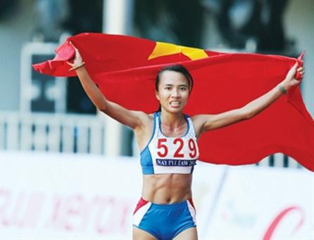 Phạm Thị Bình (HCV marathon nữ) góp phần giúp đoàn TTVN hoàn thành chỉ tiêu ở SEA Games