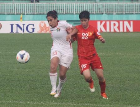 Thanh Hương (22) sẽ có trận đấu khó khăn hơn nhiều khi đối đầu với Nhật Bản, ảnh: Trọng Vũ