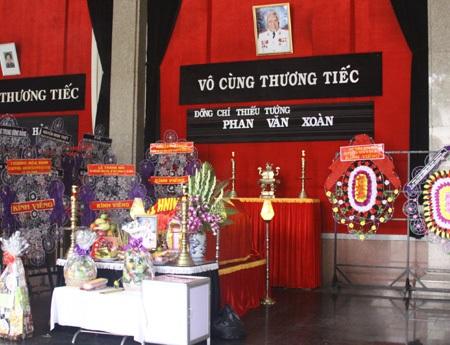 Lễ truy điệu đ/c thiếu tướng Phan Văn Xoàn