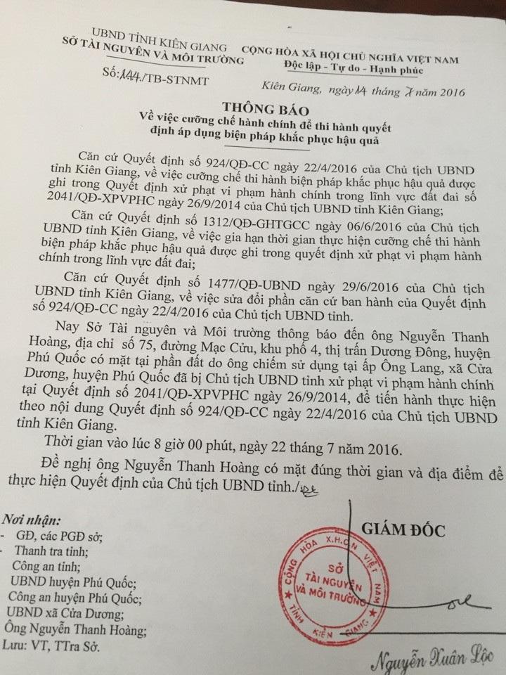 Bài 5: Phớt lờ công văn Chính phủ… Kiên Giang chuẩn bị cưỡng chế lấy đất dân - Ảnh 2.