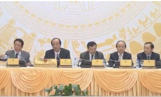 Lãnh đạo các Bộ, ngành trực tiếp trả lời các câu hỏi tại cuộc họp báo Chính phủ.