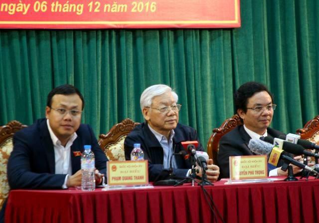 Tổng Bí thư Nguyễn Phú Trọng lần đầu tiên tiếp xúc cử tri tại địa bàn huyện Đông Anh.