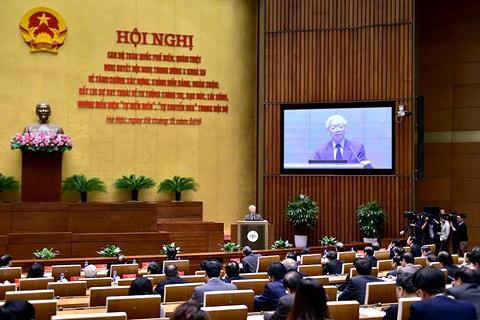 Hội nghị diễn ra tại hội trường Diên Hồng - nhà Quốc hội (ảnh: TTXVN).