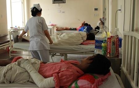 Các bệnh nhân đang được điều trị tại khoa Bỏng, bệnh viện Chợ Rẫy