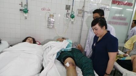 Bộ trưởng Tiến tỏ vẻ ái ngại trước tình hình tai nạn thương tích