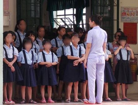 Một nhóm trẻ lớn tại Trung tâm Nuôi dưỡng bảo trợ trẻ em Linh Xuân