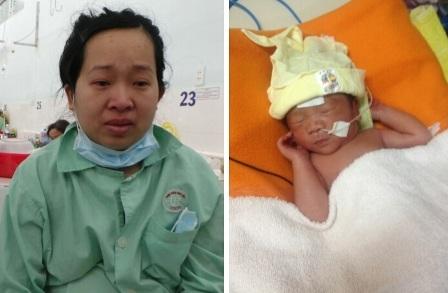 Chị Phượng mong sớm vượt qua bệnh tật để về bên đứa con thơ