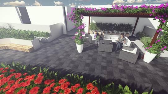 Sky garden tại T&T Riverview sẽ hoàn thiện trong tháng 8