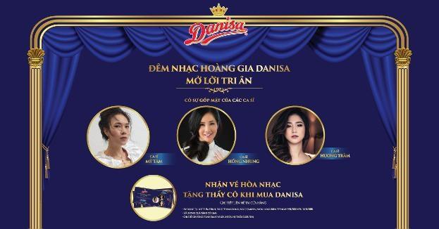 """""""Đêm hòa nhạc Hoàng Gia Danisa - Mở lời tri ân"""" sẽ giúp cho mọi người tri ân thầy cô theo cách vô cùng đặc biệt."""